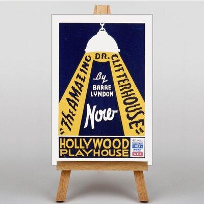 Big Box Art Hollywood Playhouse Vintage Advertisement on Canvas
