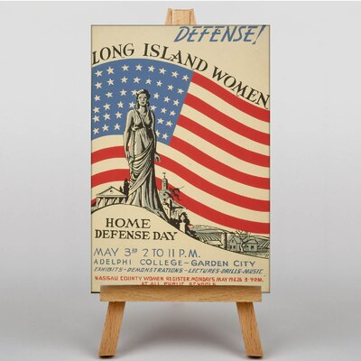 Big Box Art Home Defense Day Vintage Advertisement on Canvas