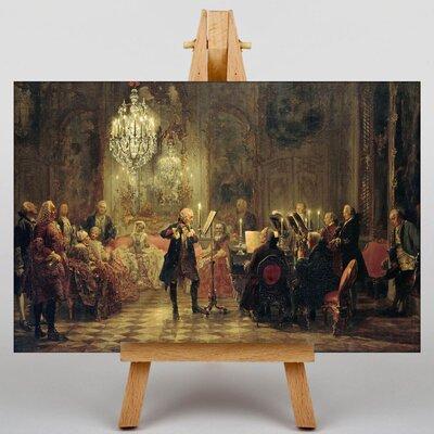 Big Box Art Flute Concert by Adolph Menzel Art Print on Canvas