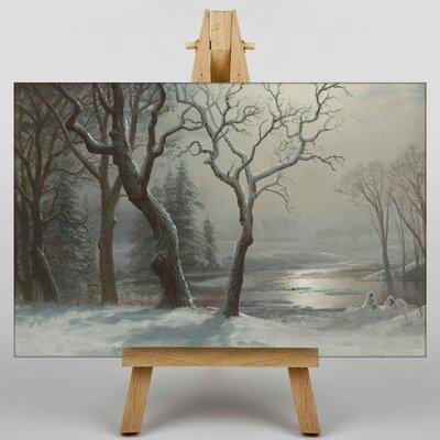 Big Box Art Winter Scene No.1 by Albert Bierstadt Art Print on Canvas