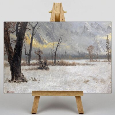 Big Box Art Winter Scene by Albert Bierstadt Art Print on Canvas