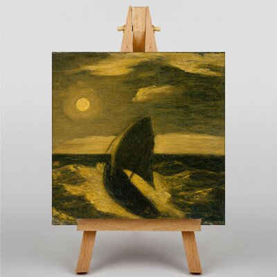 Big Box Art Boat at Sea by Albert Pinkham Ryder Art Print on Canvas