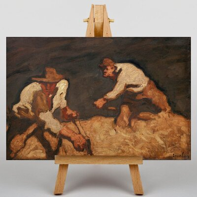 Big Box Art Reapers in a Gathering Storm by Albin Egger-Lienz Art Print on Canvas
