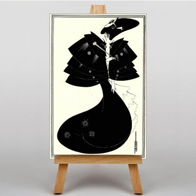 Big Box Art The Black Cape by Aubrey Beardsley Graphic Art on Canvas