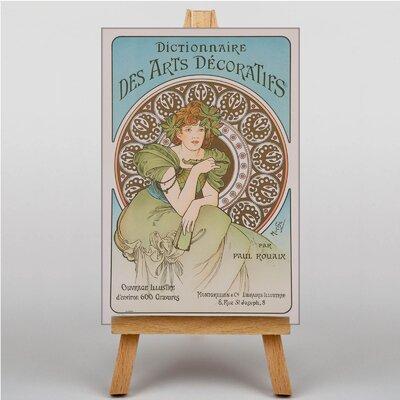 Big Box Art Piece No.10 by Alphonse Mucha Vintage Advertisement on Canvas