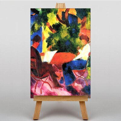 Big Box Art At the Garden Table by August Macke Art Print on Canvas