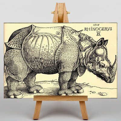 Big Box Art Rhinoceros by Albrecht Durer Art Print on Canvas