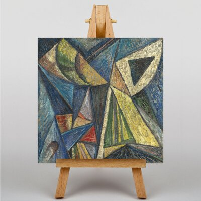 Big Box Art Composition with a Black Triangle by Alexander Bogomazov Art Print on Canvas