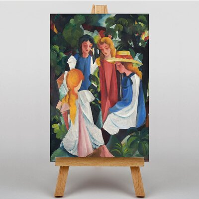 Big Box Art Four Girls by August Macke Art Print on Canvas