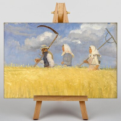 Big Box Art Harvesters by Anna Ancher Art Print on Canvas
