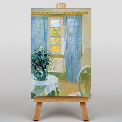 Big Box Art Interior with Clemantis by Anna Ancher Art Print on Canvas
