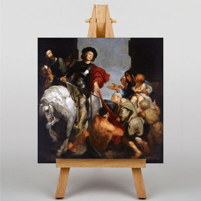 Big Box Art Follower of St Anthony by Anthony Van Dyck Art Print on Canvas