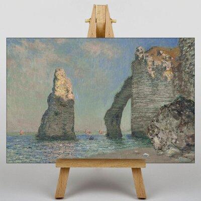 Big Box Art Sea Cliffs by Claude Monet Art Print on Canvas