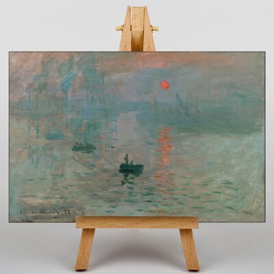 Big Box Art Sunrise by Claude Monet Art Print on Canvas