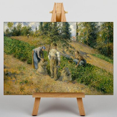 Big Box Art The Harvest by Camille Pissaro Art Print on Canvas