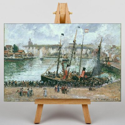 Big Box Art The Inner Harbor by Camille Pissaro Art Print on Canvas
