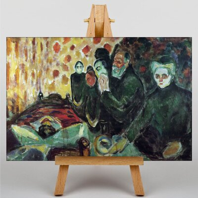 Big Box Art By the Deathbed by Edvard Munch Art Print on Canvas