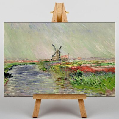 Big Box Art Field of Tulips, Holland by Claude Monet Art Print on Canvas