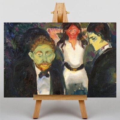 Big Box Art Jealousy by Edvard Munch Art Print on Canvas
