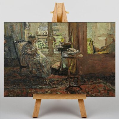 Big Box Art Elderly Women in the Lounge by Edouard Vuillard Art Print on Canvas