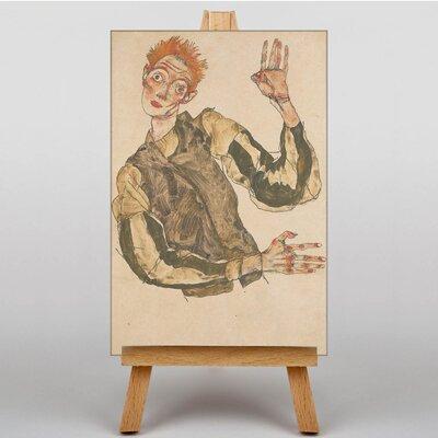 Big Box Art Portrait No.8 by Egon Schiele Art Print on Canvas
