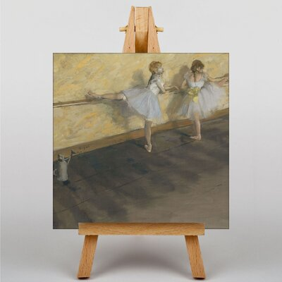 Big Box Art Dancers Practicing at the Bar by Edgar Degas Art Print on Canvas