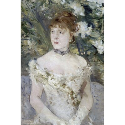 Big Box Art Young Girl in a Ball Gown by Berthe Morisot Art Print on Canvas