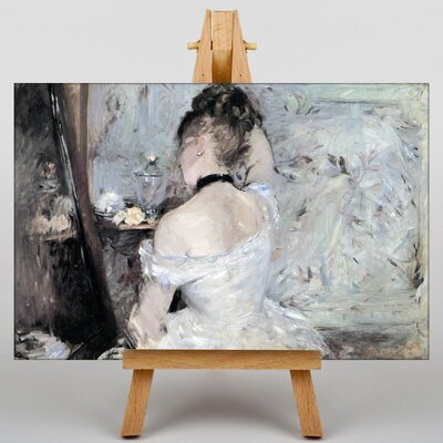 Big Box Art Young Woman at the Mirror by Berthe Morisot Art Print on Canvas