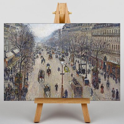 Big Box Art Boulevard Montmarte by Camille Pissaro Art Print on Canvas