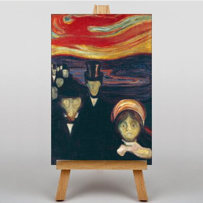 Big Box Art Anxiety by Edvard Munch Art Print on Canvas