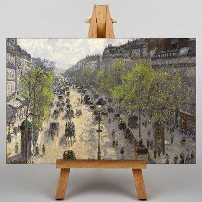 Big Box Art Boulevard Montmartre in Primavera by Camille Pissarro Art Print on Canvas
