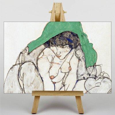 Big Box Art Woman by Egon Schiele Art Print on Canvas