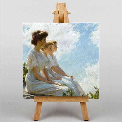 Big Box Art On The Heights by Charles C. Curran Art Print on Canvas