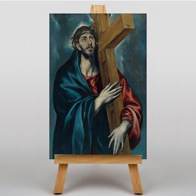 Big Box Art Carrying the Cross by El Greco Art Print on Canvas