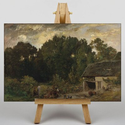 Big Box Art Daubigny Landscape by Charles-Francois Art Print on Canvas