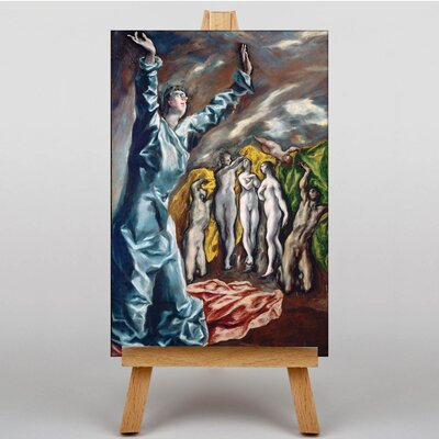 Big Box Art The Vision of Saint John by El Greco Art Print on Canvas