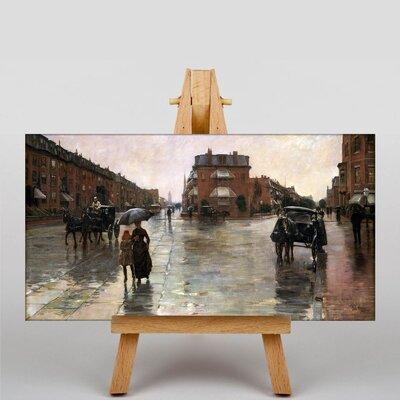 Big Box Art Rainy Day, Boston by Childe Hassam Art Print on Canvas
