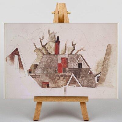 Big Box Art Red Chimneys by Charles Demuth Art Print on Canvas