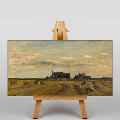 Big Box Art Daubigny Farm at Kerity by Charles-Francois Art Print on Canvas