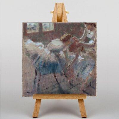 Big Box Art Three Dancers Preparing by Edgar Degas Art Print on Canvas