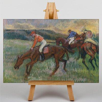 Big Box Art Three Jockeys by Edgar Degas Art Print on Canvas