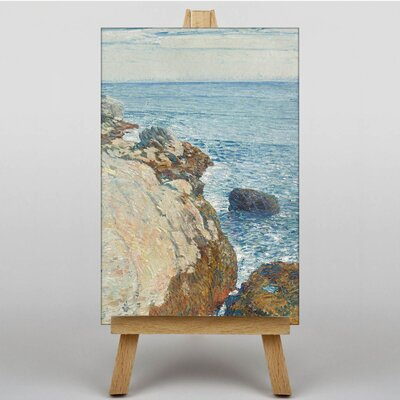Big Box Art Cliffs and Sea by Childe Hassam Art Print on Canvas
