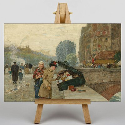 Big Box Art The Seller on the Bridge by Childe Hassam Art Print on Canvas