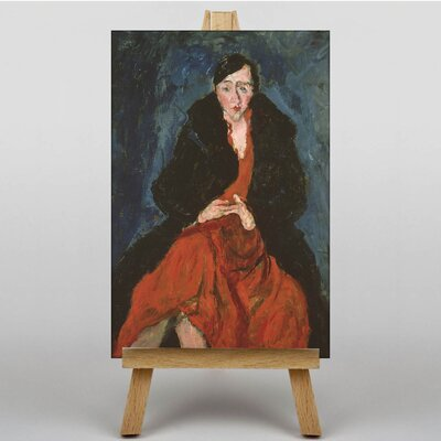 Big Box Art Woman in Red by Chaim Soutine Art Print on Canvas
