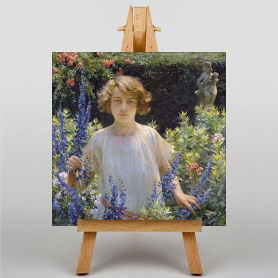 Big Box Art Girl in the Flowers by Charles C. Curran Art Print on Canvas