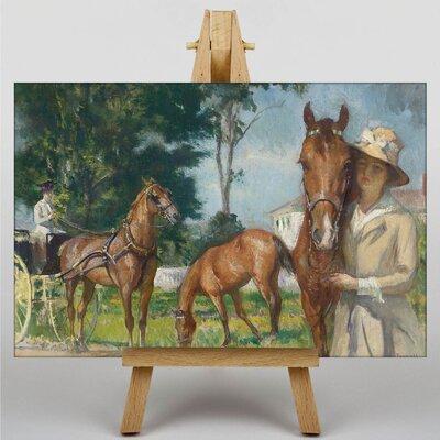 Big Box Art Horses by Edmund C. Tarbell Art Print on Canvas