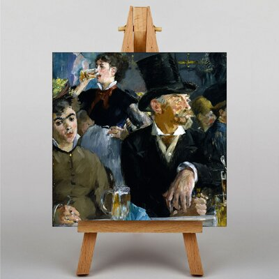 Big Box Art At the Cafe by Edouard Manet Art Print on Canvas