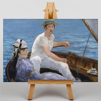 Big Box Art Boating by Edouard Manet Art Print on Canvas