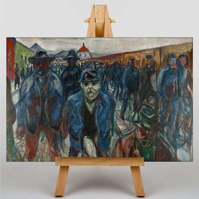 Big Box Art Workers on Their Way Home by Edvard Munch Art Print on Canvas