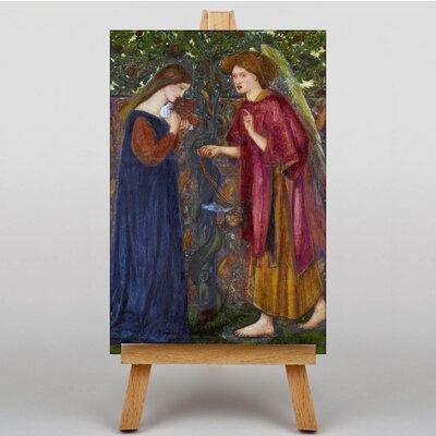 Big Box Art The Annunciation by Edward Burne-Jones Art Print on Canvas